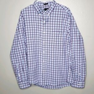 J. Crew Slim Fit Plaid Shirt XL Purple/Blue